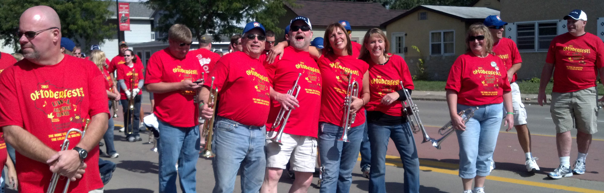 Members of University of Wisconsin - La Crosse Alumni Band